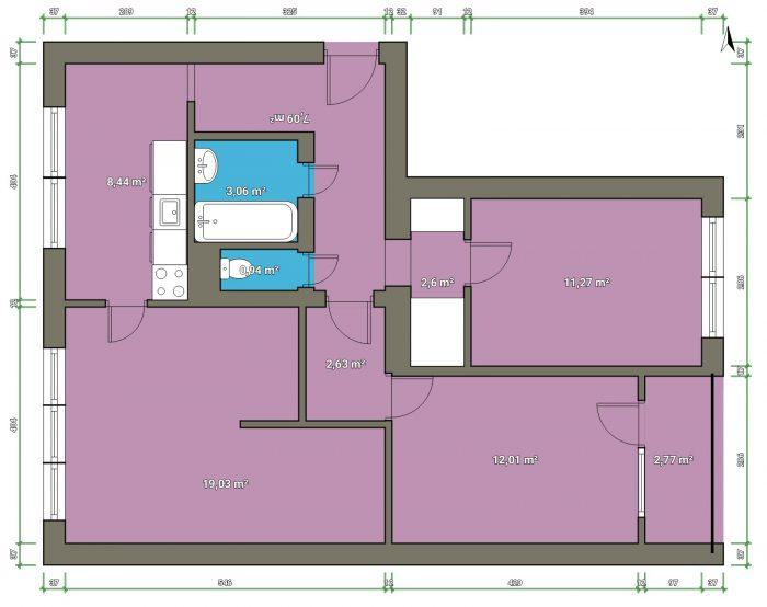 byt 3+1 byt Nový Jičín